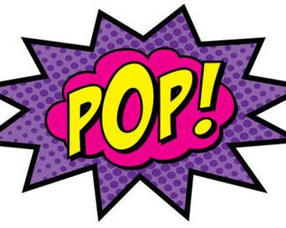 Superhero Pow Clipart.