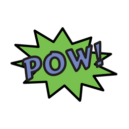 Pow transparent PNG or SVG to Download.