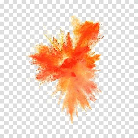 Orange powder , Dust explosion Desktop , explosion.
