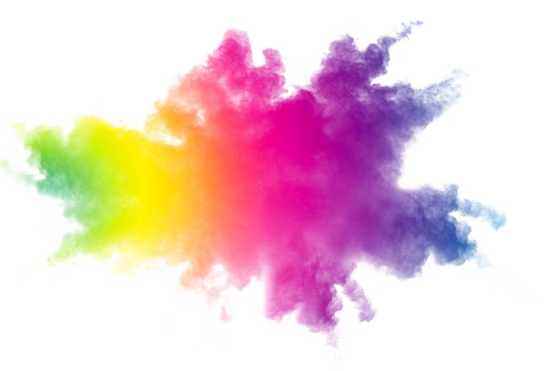 Holi Color Powder Transparent Background.