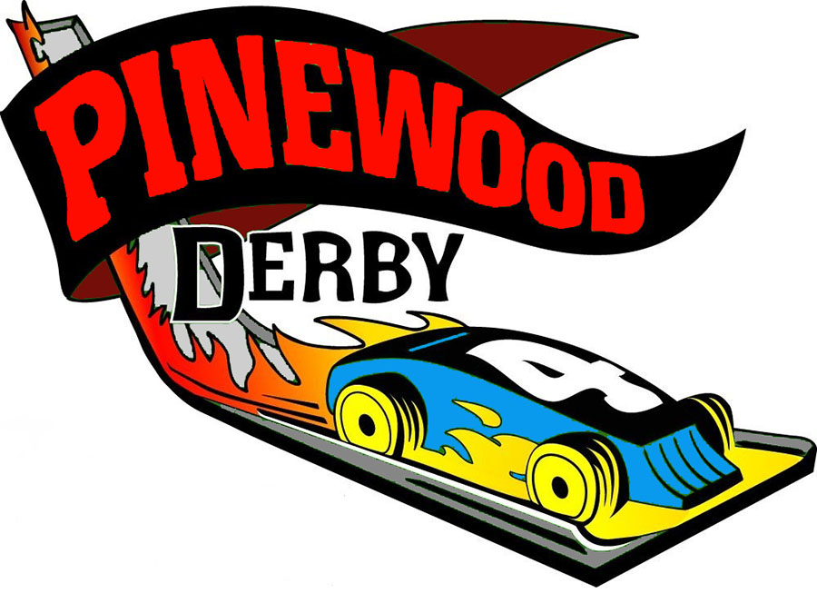 Pinewood Derby Car Clipart.