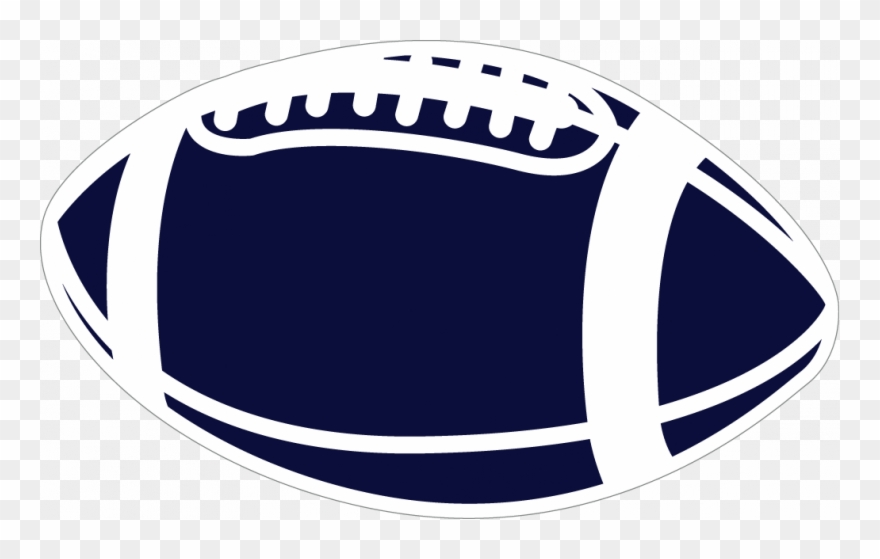 White Football Lace Clipart.