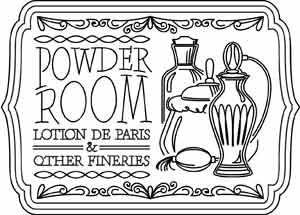 Powder Room Sign.