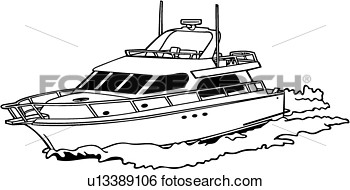 Power Boat Clipart.