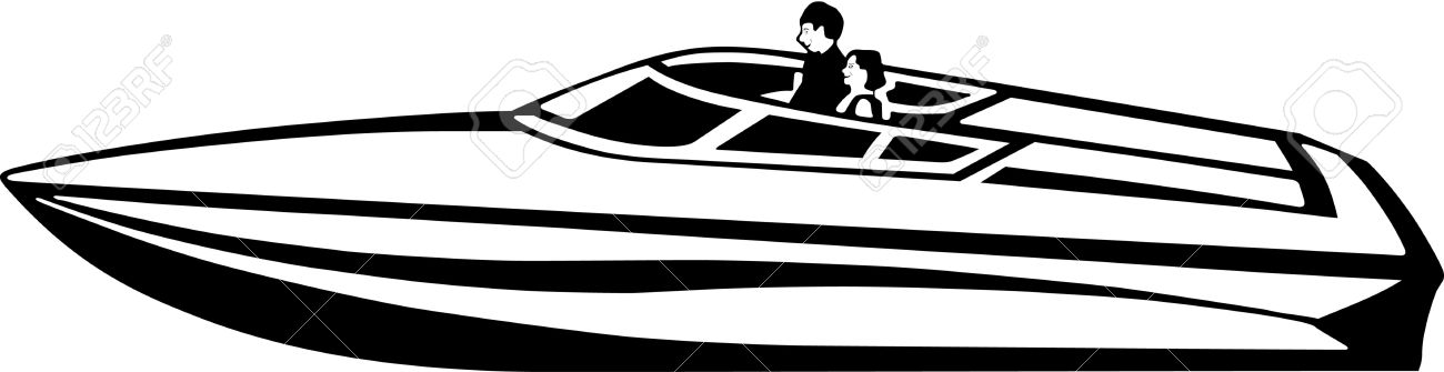 Power Boat Vinyl Ready Illustration Royalty Free Cliparts, Vectors.