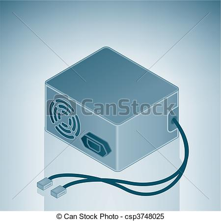 Clipart Vector of Power Supply is a part of the Isometric 3D.