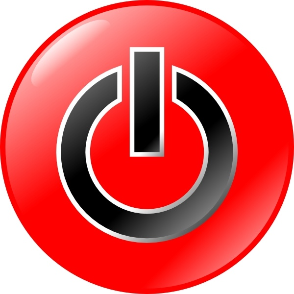 Power Button clip art Free vector in Open office drawing svg.