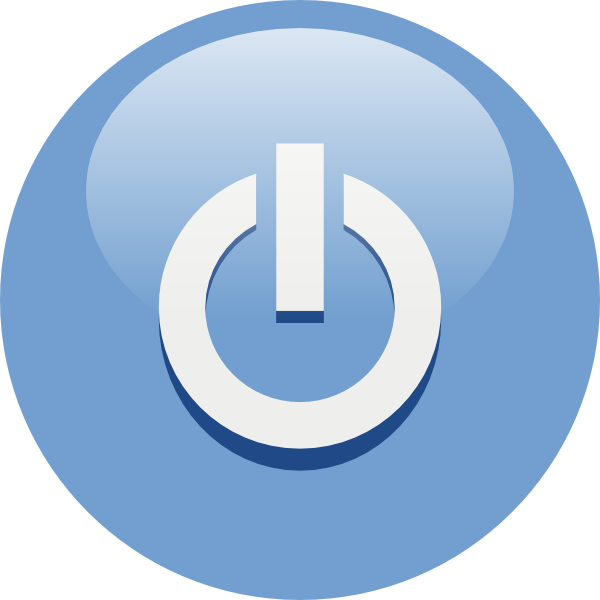 Blue Power Button clip art Free Vector / 4Vector.