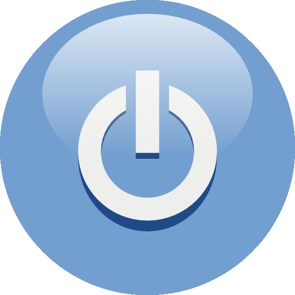 Blue Power Button clip art Free Vector / 4Vector.