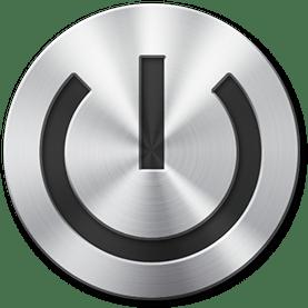 Metallic Power Button transparent PNG.