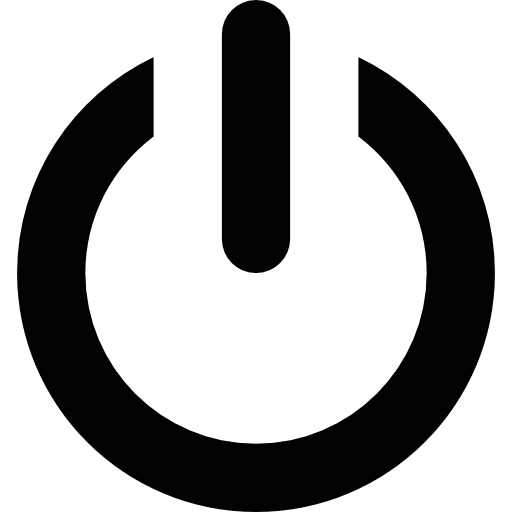 On off power button.