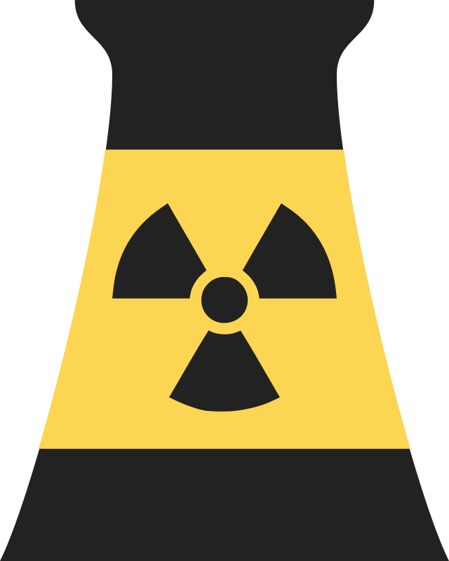 Nuclear Power Plant Symbol 1 Clipart Icon PNG.