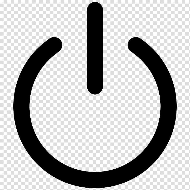 Power symbol Computer Icons , symbol transparent background.