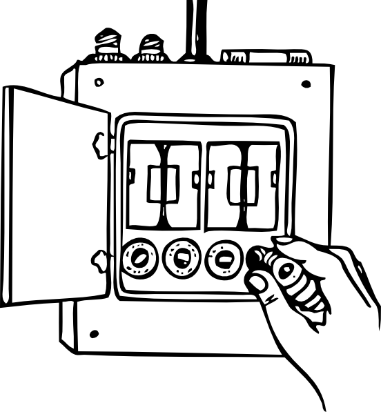 Power distribution box clipart #19
