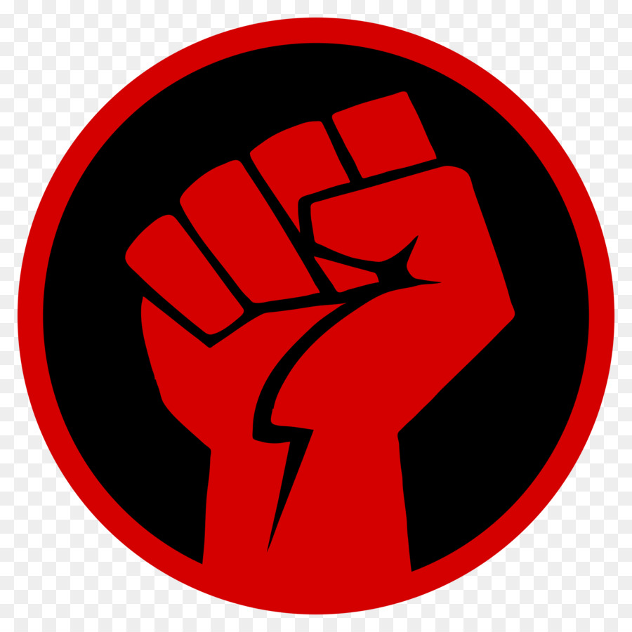 Black Power Fist clipart.