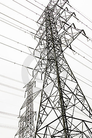 Power Lines Stock Images.