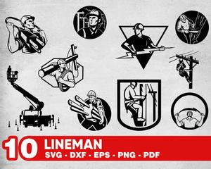 LINEMAN SVG, lineman decal, power lineman Svg, lineman clipart, electrical  lineman svg, lineman dxf, electrician svg, lineman shirt svg, dxf.