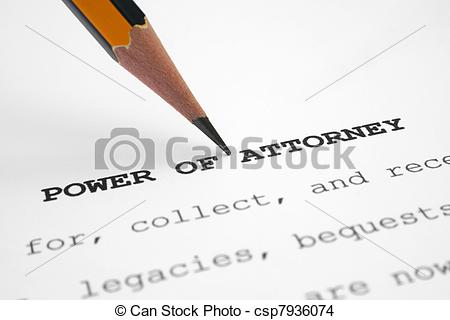 Stock Photo of Power of attorney csp7936074.