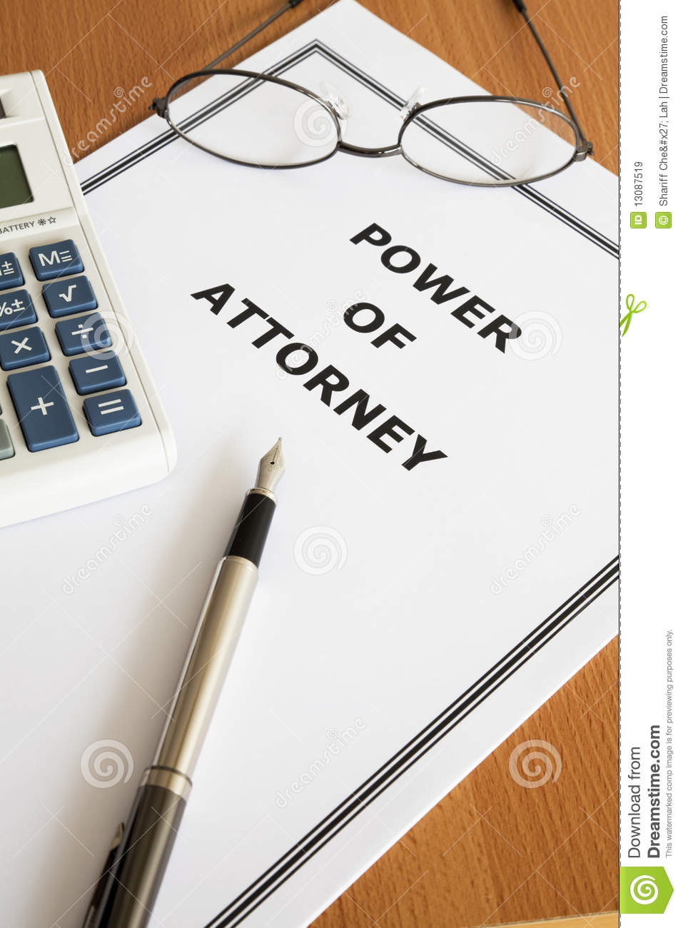 Power Of Attorney Clipart.