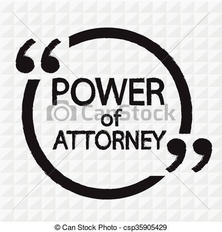 Vector Illustration of Power Of Attorney lettering Illustration.