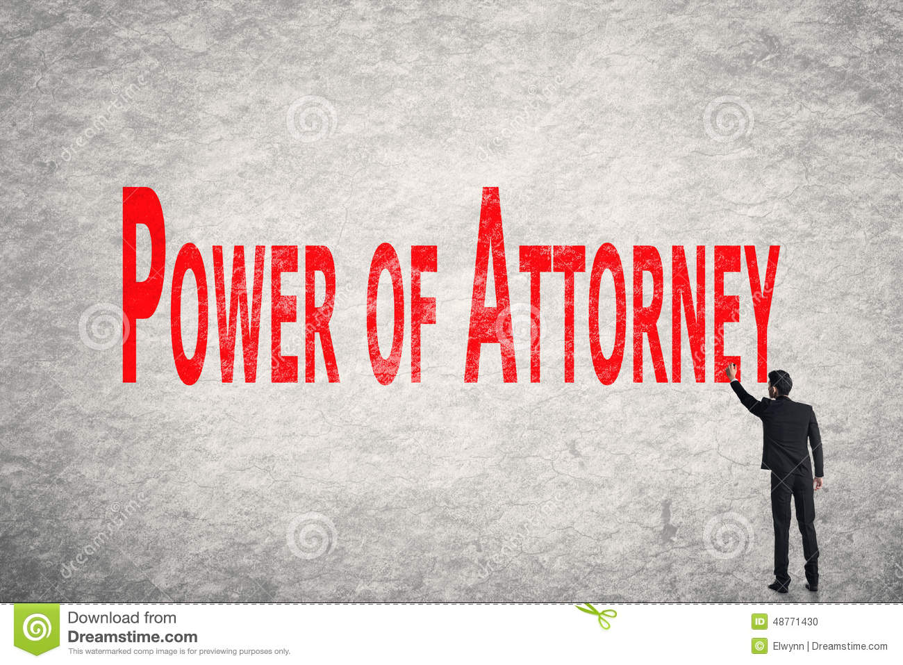 Power of Attorney Clip Art.