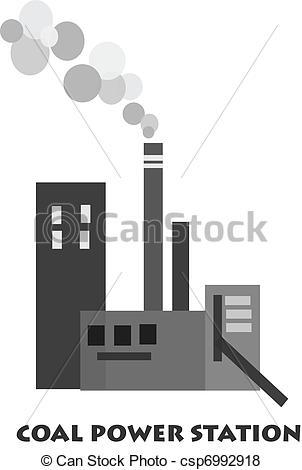 Coal Power Plant Clipart.