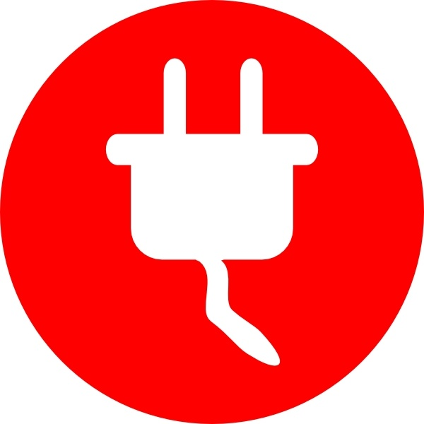 Electric Power Plug Icon clip art Free vector in Open office.