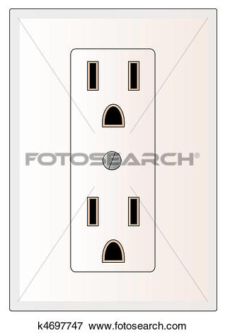 Stock Illustration of electrical power outlet k4697747.