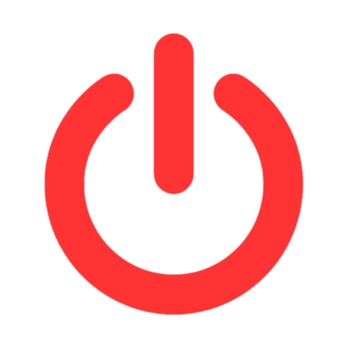Red Power Button transparent PNG.