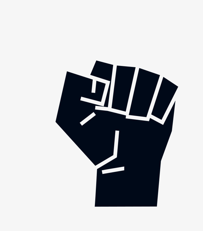 Download Free png Vector Black Fist Power, Vector Fist.