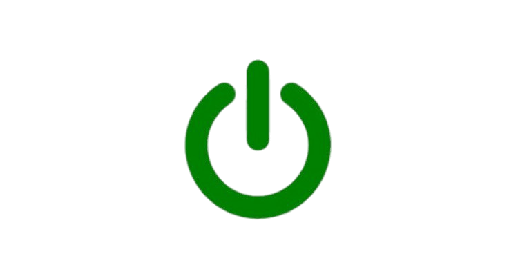 Green Power Button transparent PNG.