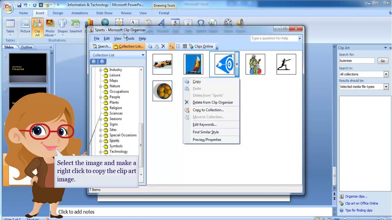 MS PowerPoint 2007.
