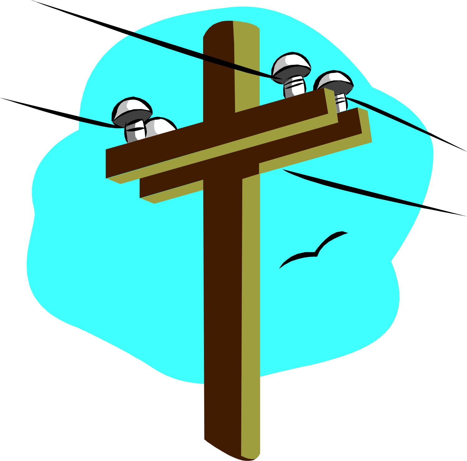 Power distribution clipart.