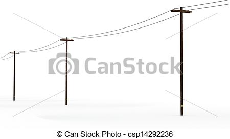 Stock Photos of 3D Rendered Power Poles.