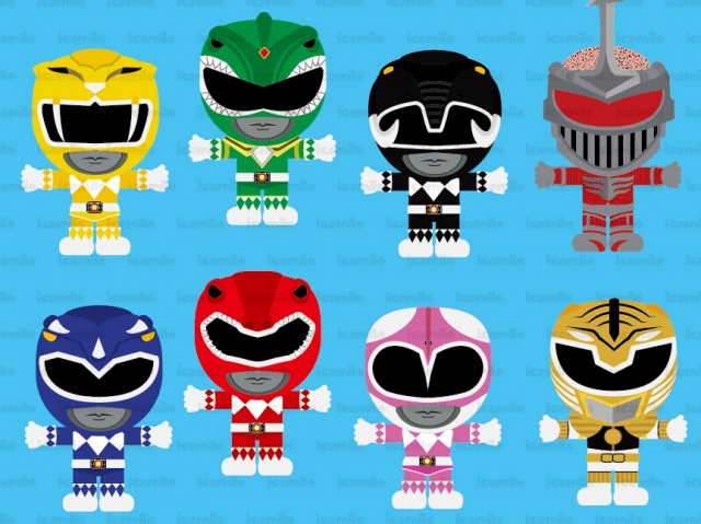 Power Ranger Digital Clipart.