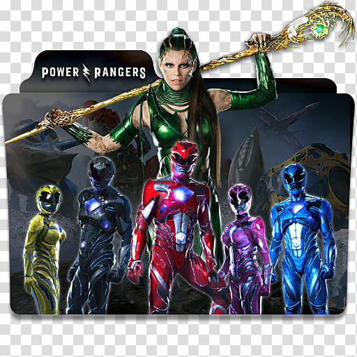 Power Rangers Folder Icon , Power Rangers v transparent.