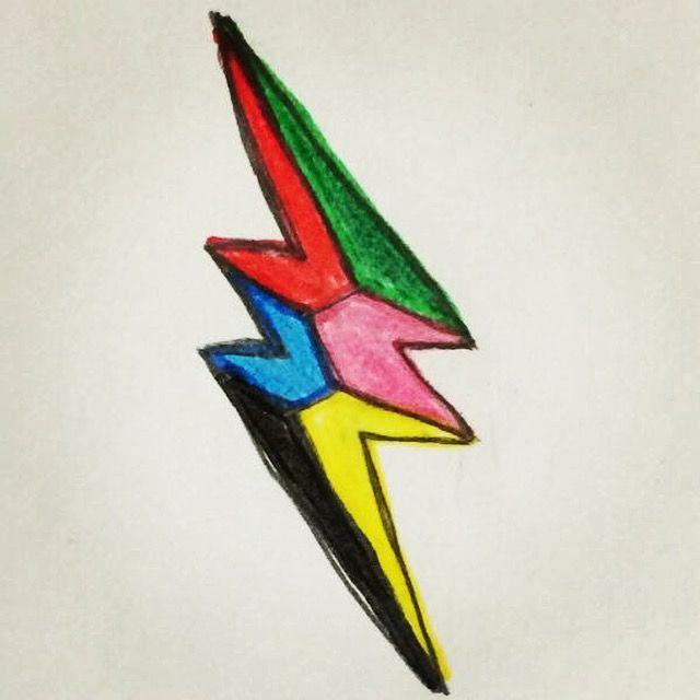 My Drawing Of The 2017 Power Rangers Lightning Bolt Symbol.