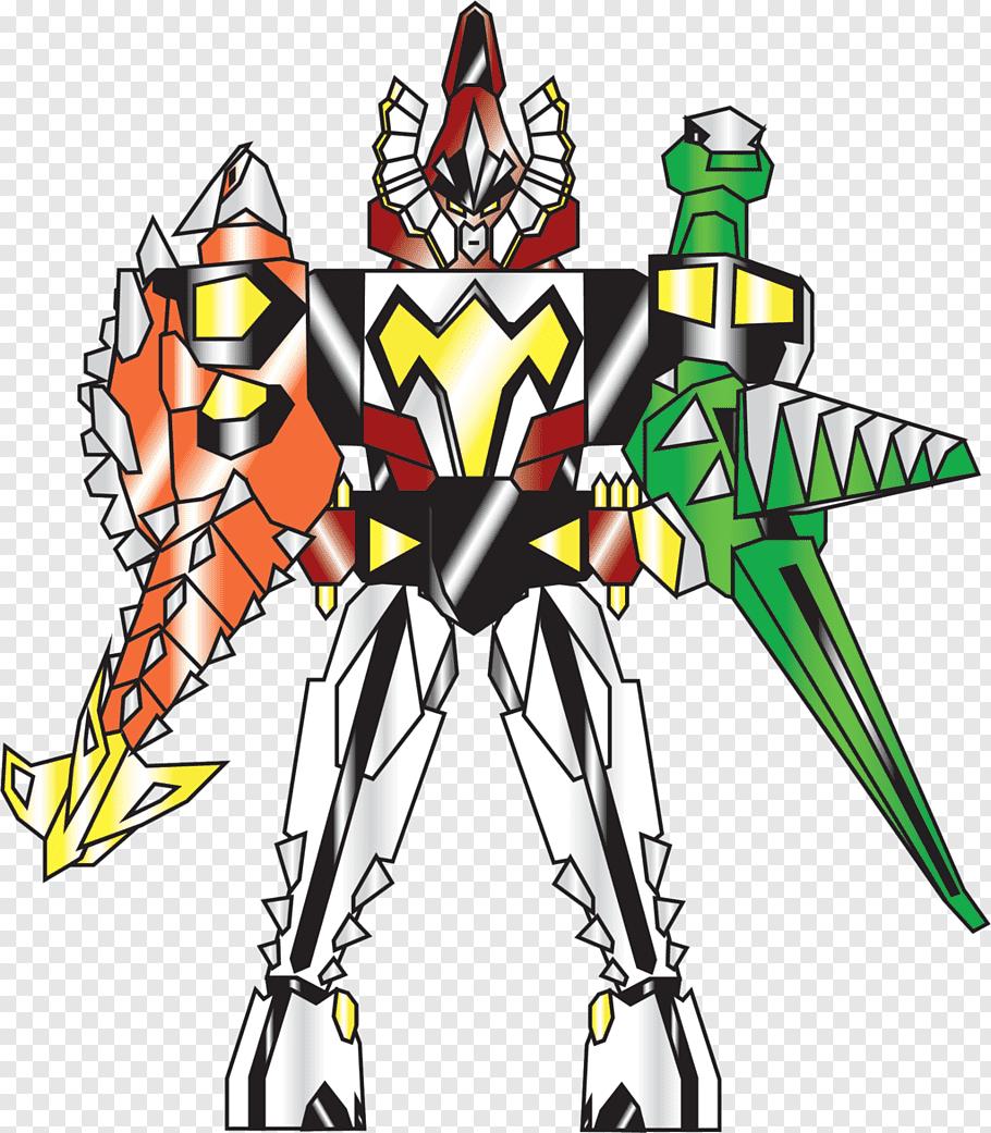 Drawing Art Zords in Power Rangers: Dino Thunder, Power.