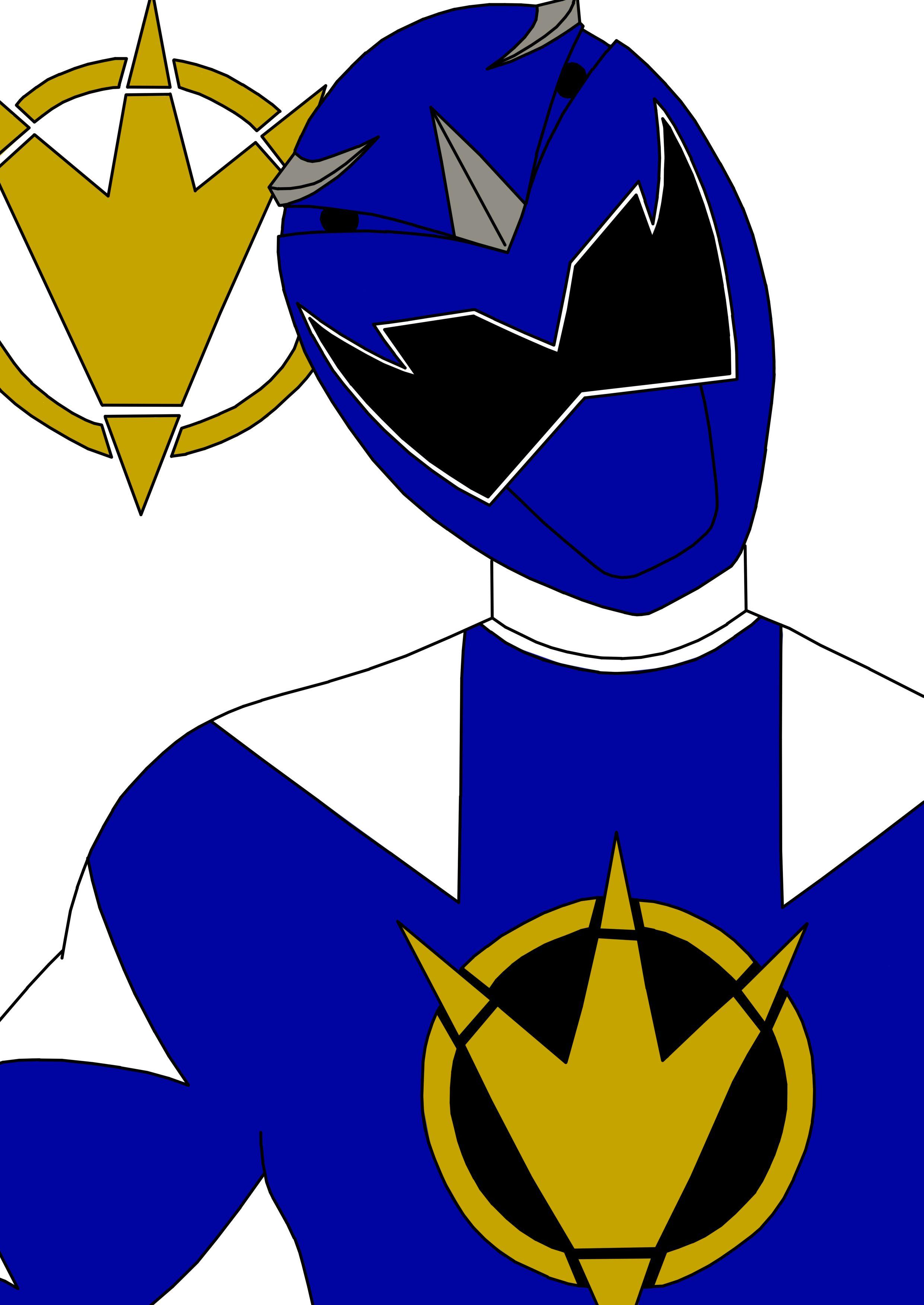 Blue Dino Thunder Ranger by SeptimusParker.deviantart.com on.