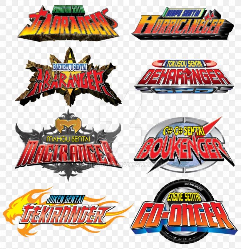 Logo Power Rangers Dino Thunder Super Sentai, PNG, 881x907px.