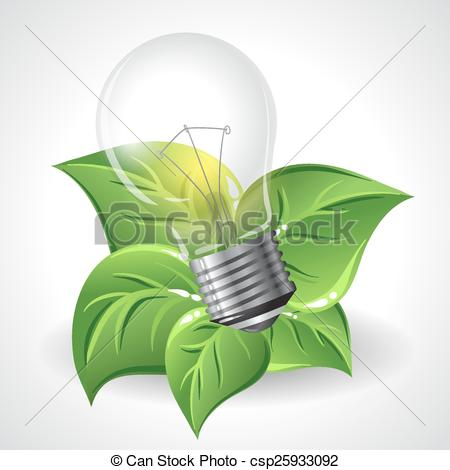 Vector Illustration of Green energy concept.