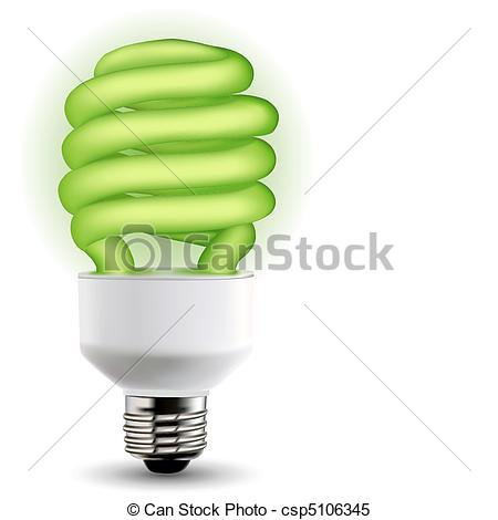Clipart Vector of power saving.