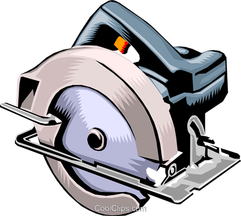 Electric circular saw Royalty Free Vector Clip Art.