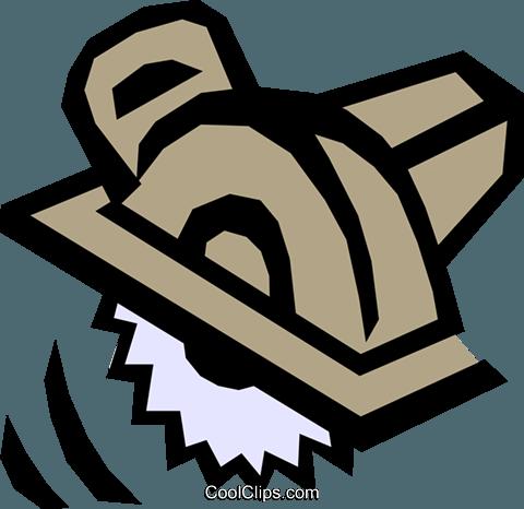 Power saw Royalty Free Vector Clip Art illustration.