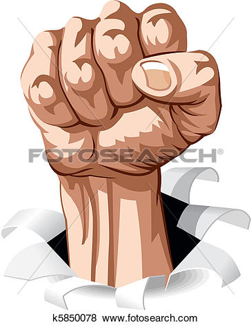 Clipart of strong hand k12369024.