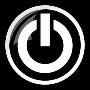 White Power Button Clip Art at Clker.com.