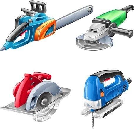 Free Hardware Power Tools Clipart and Vector Graphics.