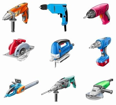Free Electric Tools Vector Sets Clipart and Vector Graphics.