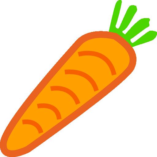 Carrot Platformer Game Powerup Clipart.
