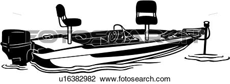 Clipart of , boat, fishing, power, power boat, sport, motor.